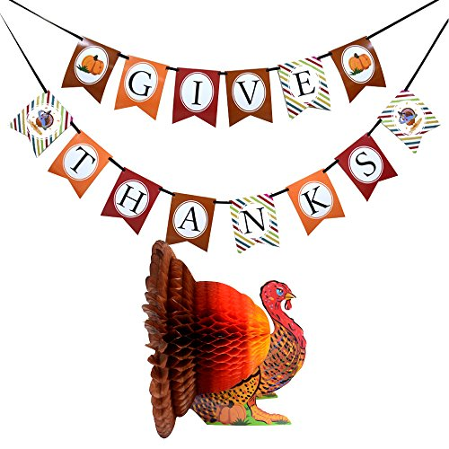 FRIDAY NIGHT Thanksgiving Day Turkey Banner kit Decorations