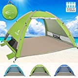 G4Free Outdoors Large Pop Up Beach Tent Instant Easy Up Cabana Large 3-4 Person Anti UV Portable Automatic Sun Shelter for Adults Sport Fishing(Green)