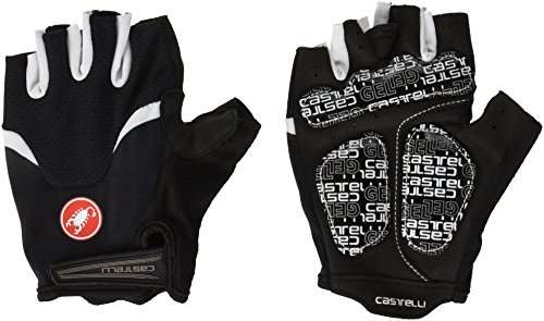 Castelli Mens Bike Glove - Castelli Arenberg Gel Glove - Men's Black/White, L