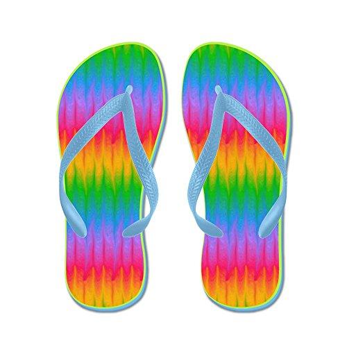 Cafepress Gay Lesbica Orgoglio Arcobaleno - Infradito, Sandali Infradito Divertenti, Sandali Da Spiaggia Blu Caraibico
