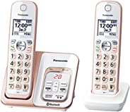 Panasonic Link2Cell Bluetooth Cordless Phone with Voice Assist and Answering Machine - 3 Handsets, Teléfono Do