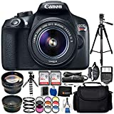 Canon EOS T6 with EF-S 18-55mm f/3.5-5.6 IS II Lens 18PC Accessory Bundle – Includes 72″ Tripod + 2 32GB SD Memory Card + Digital Slave Flash + Remote Shutter Release + MORE