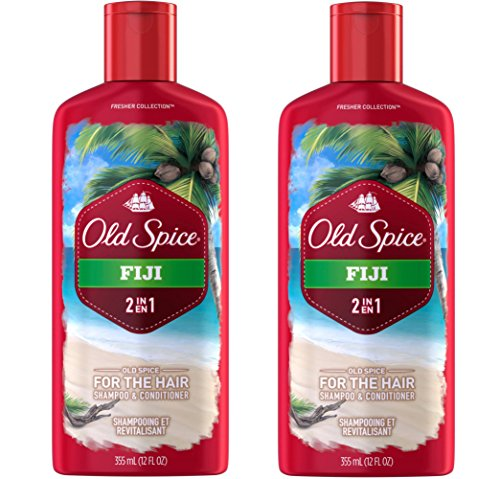 Old Spice 2 in 1 Shampoo and Conditioner, Fiji, 12 Ounce Pack of 2