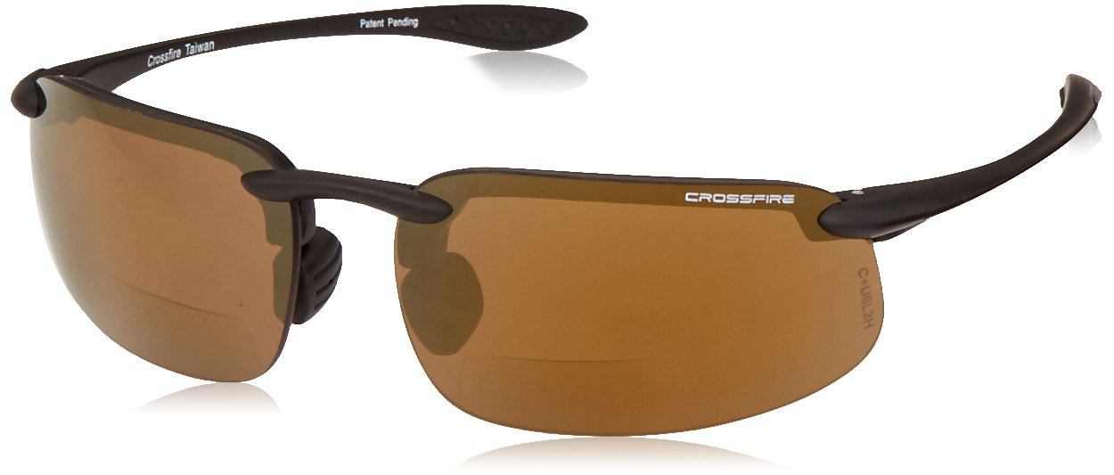 Crossfire Eyewear 216125 ES4 Black/Bronze 2.5 Diopter Safety Glasses