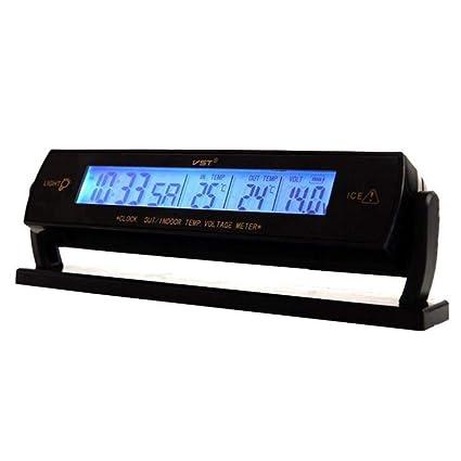 V.JUST Auto del Reloj del Coche Voltaje LCD Digital Termómetro De Temperatura del Coche