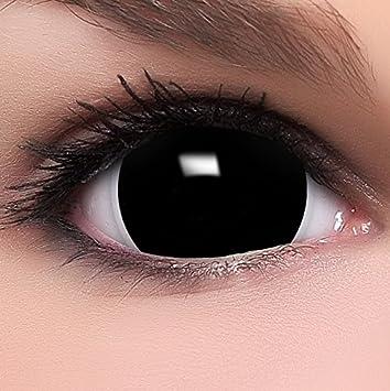 FUNZERA® Mini Sclera Lentilles de Contact de Couleur quot Black quot  +  Récipient Gratuit - faacd8f92429
