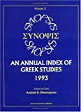 img - for Synopsis: An Annual Index of Greek Studies, 1993, 2 by Andrew D. Dimarogonas (1998-10-28) book / textbook / text book