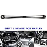 DLLL Black Deep Cut Round Shifter Rod Shift Linkage for Harley Touring FL FX FLHT & Softail 84-16