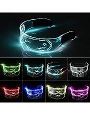 XIAMUSUMMER Halloween LED lichtgevende bril - Neon Bril - Cyberpunk LED Vizier Bril - Futuristische Elektronische Vizier Bril - voor Party Disco DJ Muziek, Concert Live, Fancy Dress