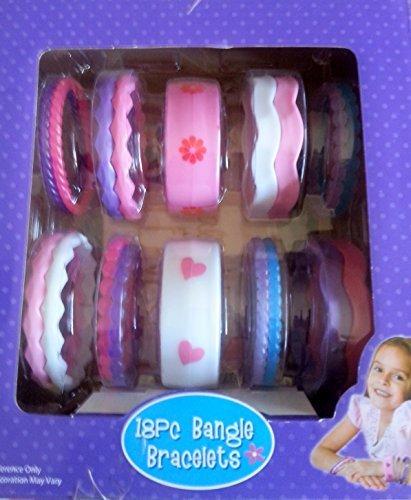 [18 PC Bangle Bracelets Pack Girl Costume Gift Box Pack] (Destiny's Child Costumes)