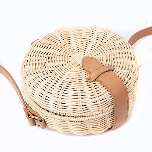 Bag Rattan Tote Beach Summer Handle Handbag Shoulder Top Womens Fashion Bag wBqx10RUA