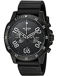 Nixon Men's 'Ranger Chrono Sport' Quartz Stainless Steel and Silicone Casual Watch, Color:Black (Model: A9582345-00)