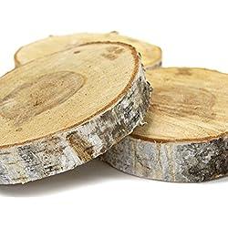"Koyal Wholesale Natural Birch Wood Slab, 5 to 6"", Brown, 1-Piece"