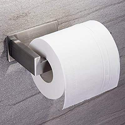 YIGII Toilet Paper Holder Without Drilling Stick on Wall Self Adhesive