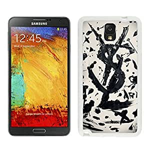 Fahionable Custom Designed Samsung Galaxy Note 3 N900A N900V N900P N900T Cover Case With YSL 8 White Phone Case