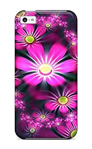 Defender Case With Nice Appearance (flowers 3d) For Iphone 5c