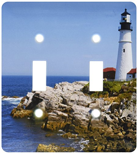 (3dRose lsp_90737_2 Portland Head Lighthouse, Cape Elizabeth Me Us20 Krs0002 Keith and Rebecca Snell Light Switch Cover)