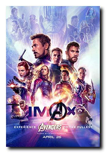 Mile High Media Avengers Endgame IMAX Movie Poster 24x36 Inch Wall Art Portrait Print - Chris Evans - Brie Larson - Robert Downey Jr. - Scarlett Johansson - Chris Hemsworth
