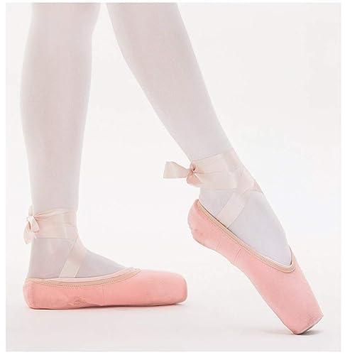 Wendy Wu - Zapatillas de Ballet para Mujer con Lazos, Color Negro, Rosa y