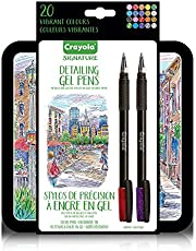 Crayola Signature Series Colour Gel Pens Metallic and Glitter Pens 20 Count Assorted Arts & Crafts