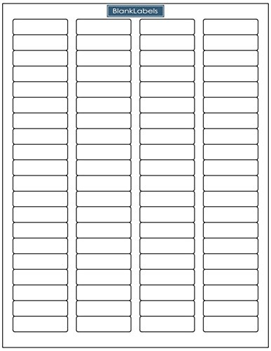 Barcode Label Template - Blank Labels Brand Return Address Labels - Sheets of Return Address Labels, 80 per Page. Laser and Ink Jet Printer Compatible (250 Sheets)