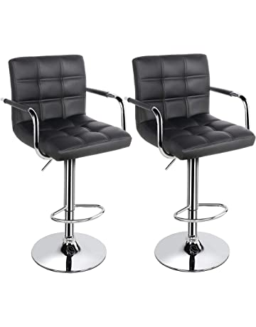 a97e79c58242 Yaheetech Bar Stools Set of 2 Kitchen Breakfast Bar Stools Bar Chair for  Kitchens with 41CM