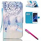 Galaxy S7 edge Case, Firefish Stand Flip Folio Wallet Cover Shock Resistance Protective Shell with Cards Slots Magnetic Closure for Samsung Galaxy S7 edge-Dreamnet