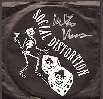 "MIKE NESS Signed SOCIAL DISTORTION ""Bad Luck†45 RPM Album Sleeve JSA #R46302"