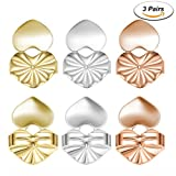 #10: Earring Backs 3 Pairs Earring Lifts Adjustable Hypoallergenic Sterling Silver Plated, Gold Silver and Rose Gold by eMigoo