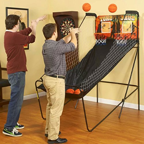 Standing Basketball Game, Metal Material, Steel Details, Foldable, Easy Transportation And Storage, Led Screen, Balls-Pump-Nets Included, Guarantee Included, Sturdy And Durable Construction & E-Book by S.N