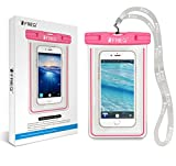 FRiEQ Waterproof Case for Outdoor Activities - Waterproof Bag/Pouch for Smartphones - IPX8 Certified to 100 Feet (Hot Pink)