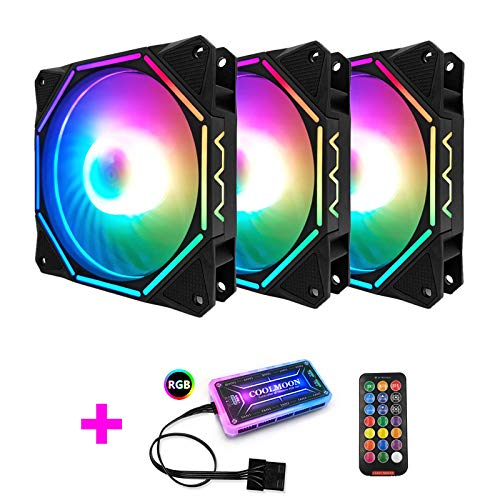 12cmRGB Cool Month Linglong II Case Fan Fan-Out Polygon Shining Computer Main Engine Cooling Fan