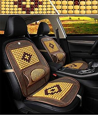GLITZFAS Auto Sitzauflage Sitzmatte Holzkugel mit universeller Passform Gelb Sommer Holzperlen Sitzauflage f/ür Autositze