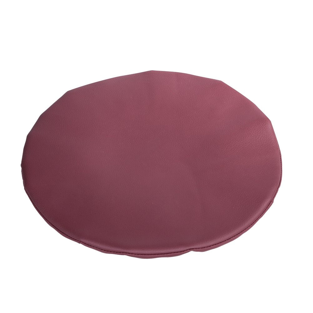 Olywell Round Bar Stool Cover 15'',Faux Leather Anti-slip Chair Pad Cover, Burgundy