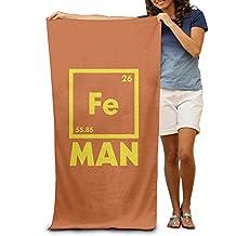 Beach Towel Iron Science Chemistry Fe Periodic Table Microfiber Towel