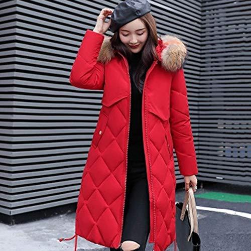 Chaud Femme Large Veste Capuche Doudoune Rouge JINZFJG Fourrure Ultra Manteau Parka Longue Blouson Hiver vtS4q4w8x