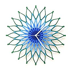 Peacock - Large Stylish Wooden Wall Clock, Sunburst Clock, a Piece of Wall Art
