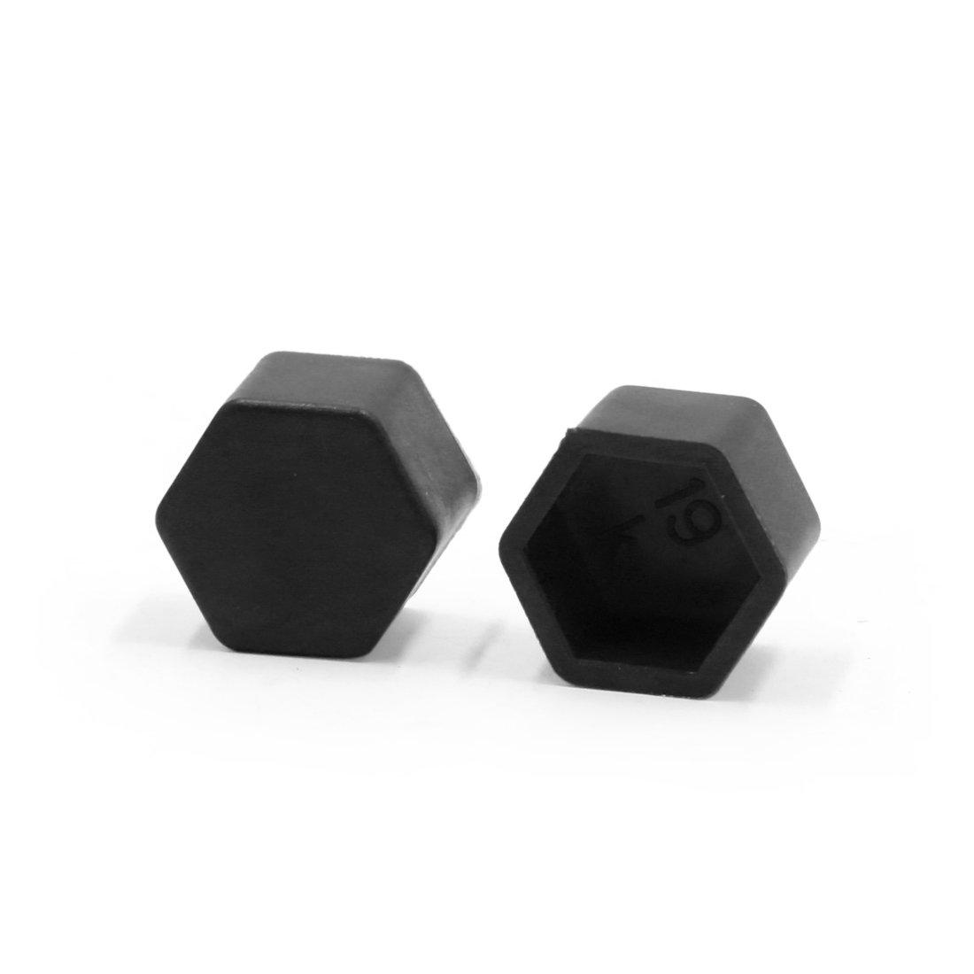 sourcingmap/® 20pcs silicone noir 19mm /écrou roue moyeu roue voiture couvre poussi/ère vis Prot/éger Caps