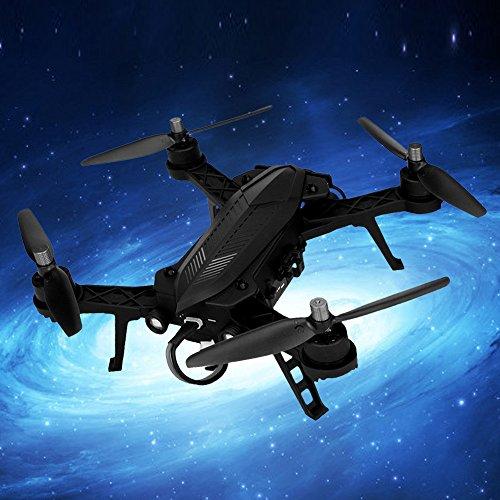 Coohole MJX B6 Bugs 6 5.8G FPV 720P Camera High Capacity Battery RC Drone Quadcopter RTF, Black - 27k Quad