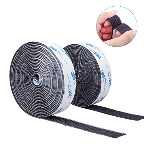 - Self Adhesive Hook and Loop Tape Roll 3M Sticky Back Fastening Tape 1 inch 16 feet Black for Hanging of Photo Album and Decorations