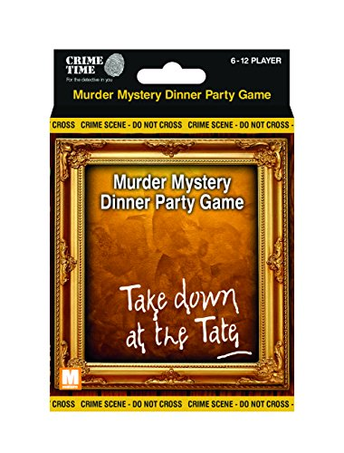 Downloadable Murder Mystery Games (Take Down at the Tate - Murder mystery gift box - downloadable game for 6,8,10 or 12 players by Crime Time)