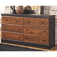 Ashley Furniture Signature Design - Aimwell Dresser - 6 Drawer - Two Tone Dark Brown