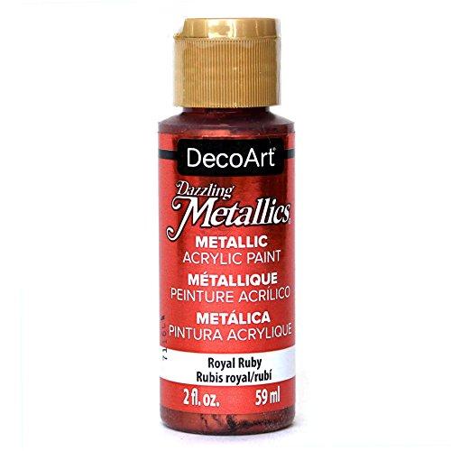 DecoArt Dazzling Metallics 2-Ounce Royal Ruby Acrylic Paint