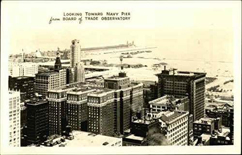 Looking Toward Navy Pier from Board of Trade Observatory Chicago, Illinois Original Vintage Postcard