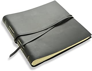"""product image for Rustic Leather Album - The """"Big Idea"""" - 160 Blank Photo Pages - Black"""