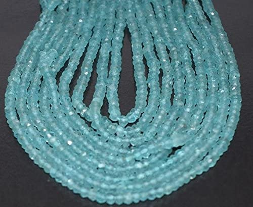 Rondel beads Gemstone beads jewelry making supplies 3mm 13 inch GB195 1 Strand Neon Apatite Rondelles,Faceted ball Beads