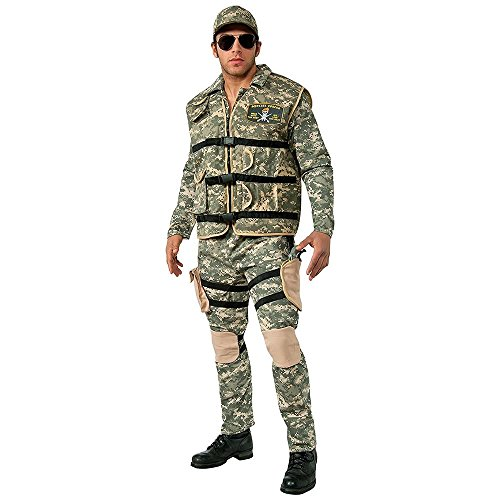 Adult Army Costumes (Rubie's Costume Co Men's Seal Team 2 Costume, Multi, Standard)