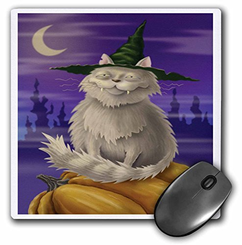 3dRose Dooni Designs Halloween Designs - Creepy And Cute Halloween Kitty Cat - MousePad (mp_159488_1)
