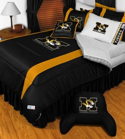 Missouri Tigers NCAA Bedding - Sidelines Complete Set - Twin w/ 1 Sham