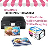 Edible Printer Bundle Package - Refillable Edible Cartridges, Free Image Designing Lifetime, Cake Printer, Edible Image Printer By Icinginks